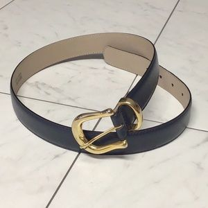 Capezio  navy classic gold buckle belt # 68D